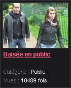 en public