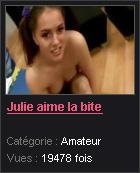Julie aime